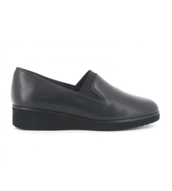 Mocassino melluso r35121 in pelle nero sottopiede in memory foam