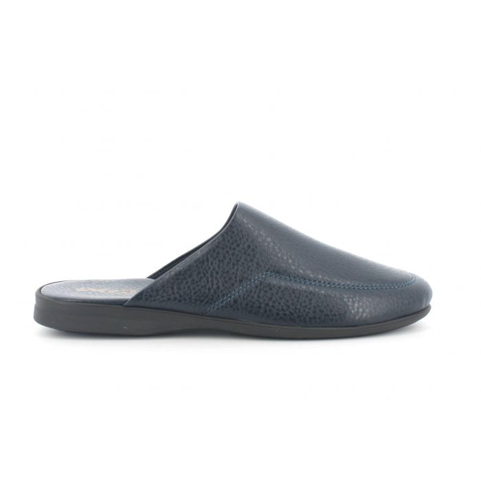 Pantofola uomo invernale in pelle blu pu701x modello comfort
