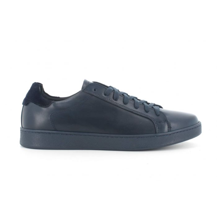 Sneakers melluso allacciata uo916xin pelle con sottopiede in memory foam